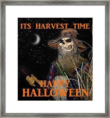 Harvest Time Happy Halloween Framed Print by David Lee Thompson