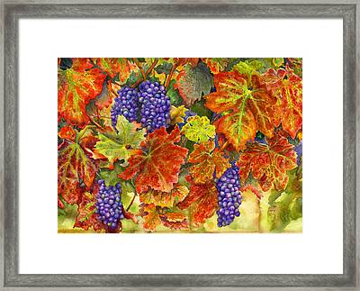 Harvest Time Framed Print by Karen Wright