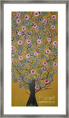 Harvest Tree Framed Print by Marcia Weller-Wenbert