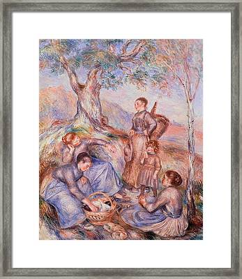 Harvesters Breakfast Framed Print by Pierre-Auguste Renoir