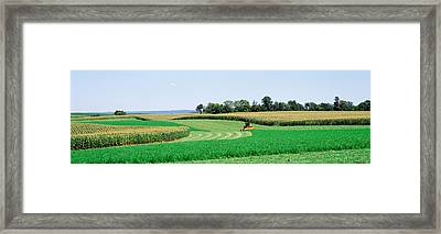 Harvesting, Farm, Frederick County Framed Print by Panoramic Images