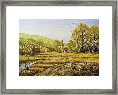 Harvesting Fields Framed Print by Andrew Read