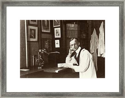 Harvey Cushing Framed Print by American Philosophical Society