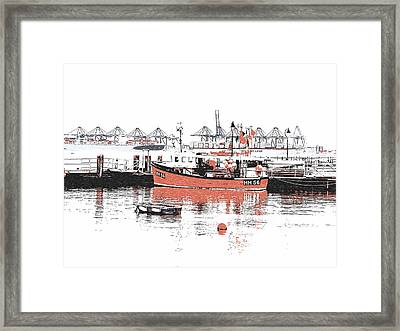 Harwich - Fishing Boat Framed Print by Richard Reeve