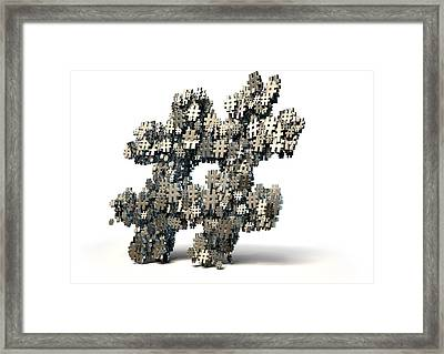 Hashtag Concept Framed Print by Allan Swart