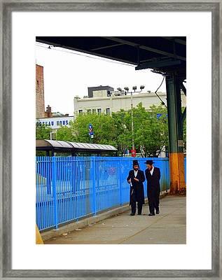 Hasidic Jews In New York Framed Print by Heart On Sleeve ART