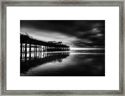 Hastings Pier Framed Print by Richard Allen