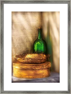 Hat Maker - A Hat Box And It's Hat  Framed Print by Mike Savad
