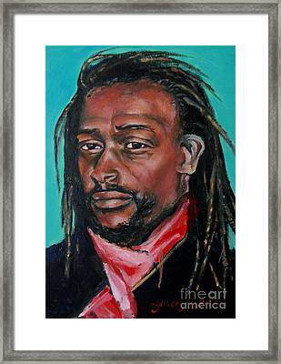 Hat Man - Portrait Framed Print by Grace Liberator