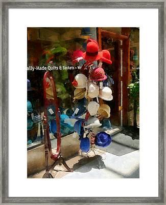 Hat Shop Framed Print by Susan Savad