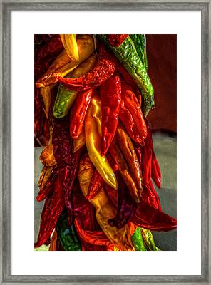 Hatch Chili Peppers Framed Print by Ken Smith