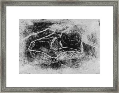 Hatching The Skull Framed Print by Andrew Martin
