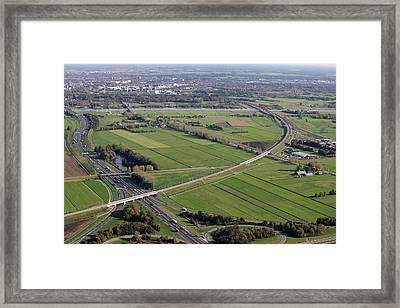 Hattemerbroek Hanzelijn Hanzelijn Framed Print by Bram van de Biezen