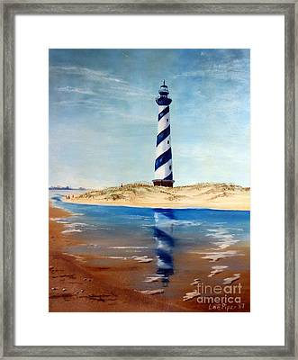 Hatteras Lighthouse Framed Print by Lee Piper