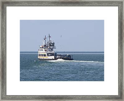 Hatteras-ocracoke Ferry 8 Framed Print by Cathy Lindsey