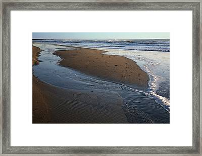 Hatteras Tidal Pools Framed Print by Steven Ainsworth