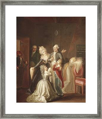 Hauer, Jean Jacques 1751-1829. Louis Framed Print by Everett
