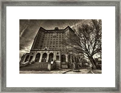 Haunted Baker Hotel Framed Print by Jonathan Davison