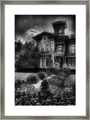 Haunted - Haunted House Framed Print by Mike Savad