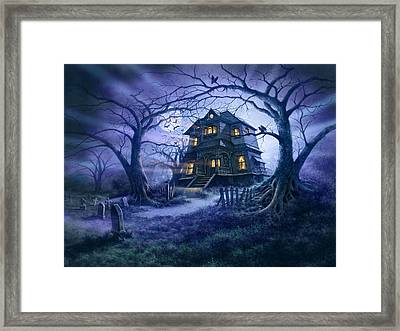 Haunted House Variant 1 Framed Print by Steve Read
