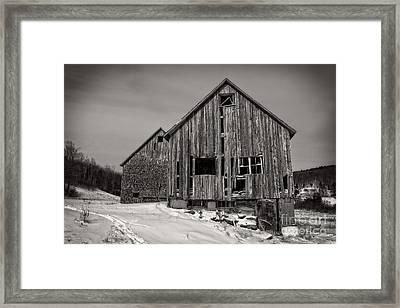 Haunted Old Barn Framed Print by Edward Fielding