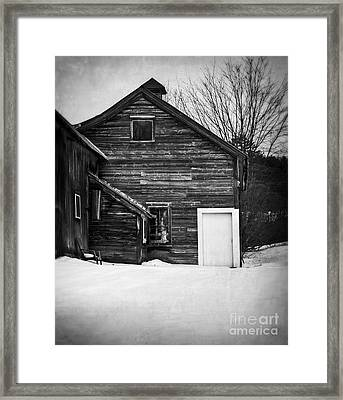 Haunted Old House Framed Print by Edward Fielding