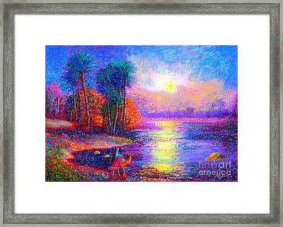 Haunting Star Framed Print by Jane Small