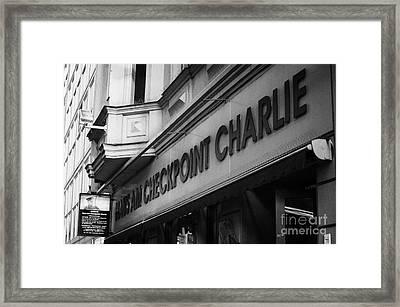 haus am checkpoint charlie museum Berlin Germany Framed Print by Joe Fox