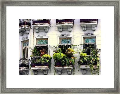 Havana Windows Framed Print by Karen Wiles