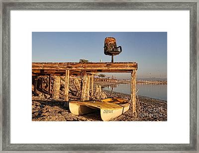 Heated Seat At The Salton Sea By Diana Sainz Framed Print by Diana Sainz
