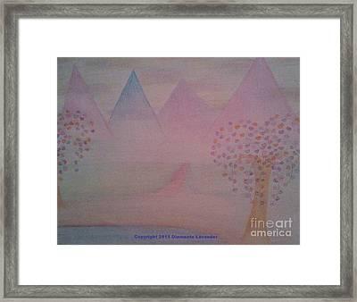 Have Faith Framed Print by Diamante Lavendar