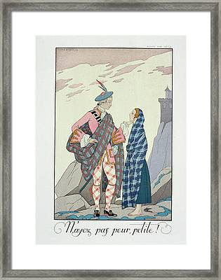 Have No Fear Little One Framed Print by Georges Barbier