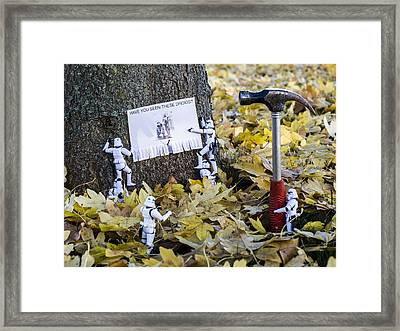Have You Seen Them? Framed Print by Keith Campbell