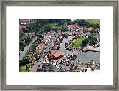 Haven, Elburg Framed Print by Bram van de Biezen