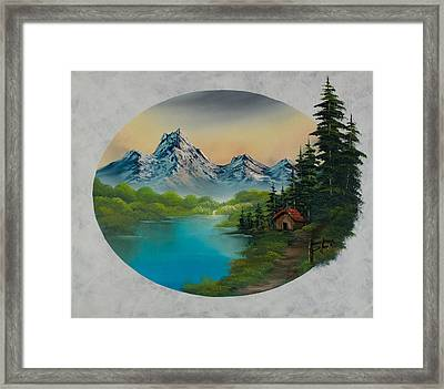 Cabin In The Valley Framed Print by C Steele