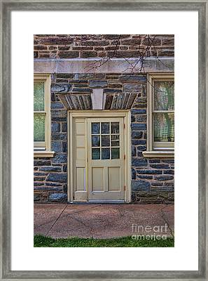 Haverford College Door Framed Print by Kay Pickens