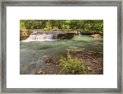 Haw Creek Falls Basin - Ozarks - Arkansas Framed Print by Jason Politte