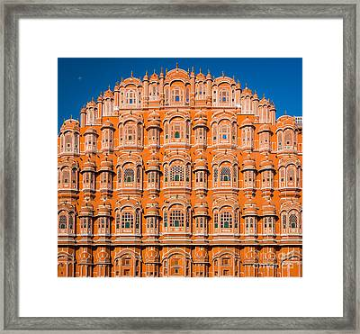 Hawa Mahal Moon Framed Print by Inge Johnsson