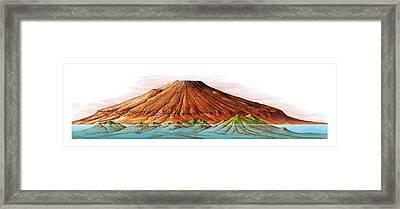 Hawaii And Olympus Mons Framed Print by Gary Hincks