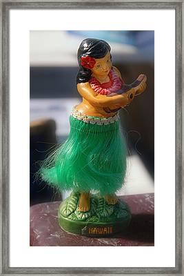Hawaii Hula Doll Framed Print by Ron Regalado