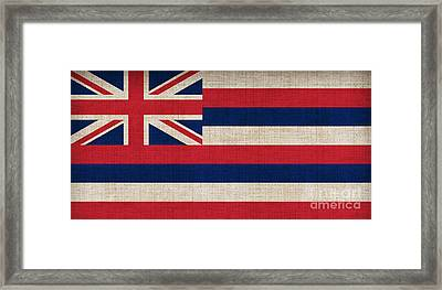 Hawaii State Flag  Framed Print by Pixel Chimp