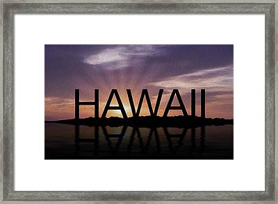 Hawaii Tropical Sunset Framed Print by Aged Pixel