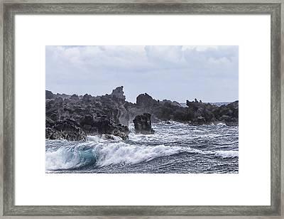Hawaii Waves V1 Framed Print by Douglas Barnard