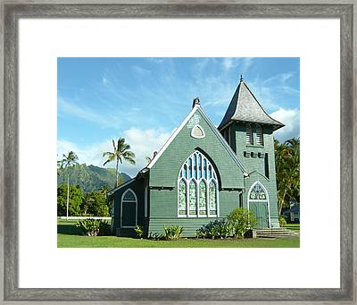 Hawaiian Church Framed Print by Dee  Savage