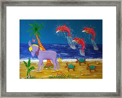 Hawaiian Lei Parade Framed Print by Pamela Allegretto
