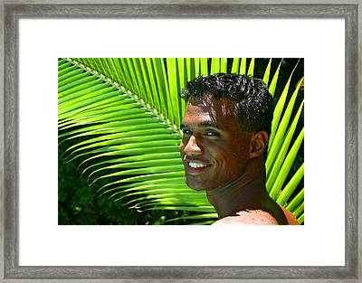 Hawaiian Smile Framed Print by Douglas Simonson