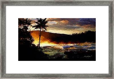 Hawaiian Sunrise Framed Print by Anthony Fishburne