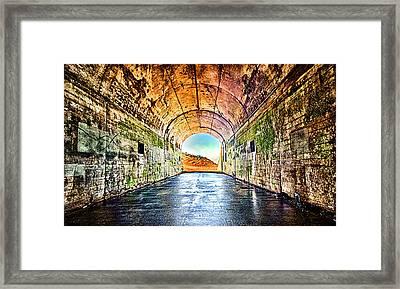 Hawk Hill Tunnel Framed Print by Robert Rus