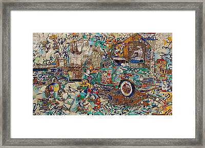 Hawkins Mill Springfield Mo From Numbers And Letters Framed Print by Phil Jackson