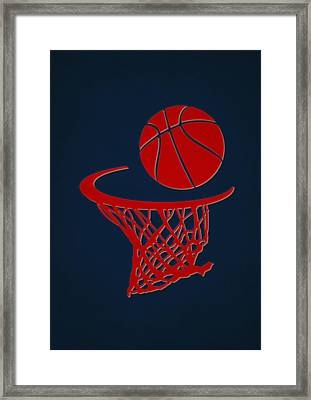Hawks Team Hoop2 Framed Print by Joe Hamilton
